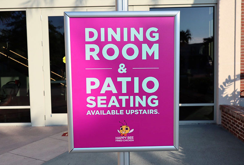 Outdoor Dining Printing Signage