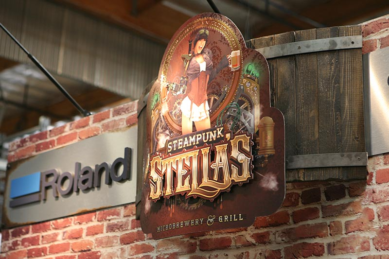 Steampunk Stella's sign