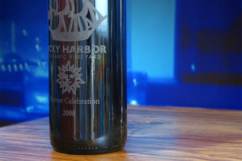 EGX-360 engraving on cylindrical metals and glass