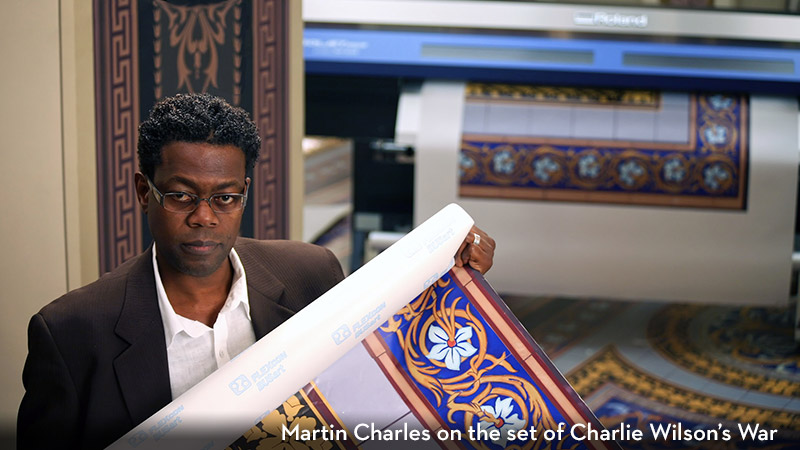 Martin Charles on the set of Charlie Wilson's War