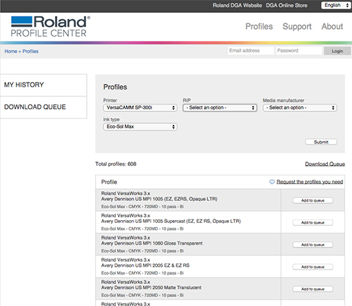 Roland Profile Center