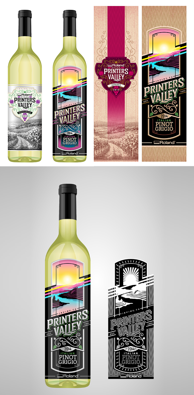wine bottle designs matte and gloss