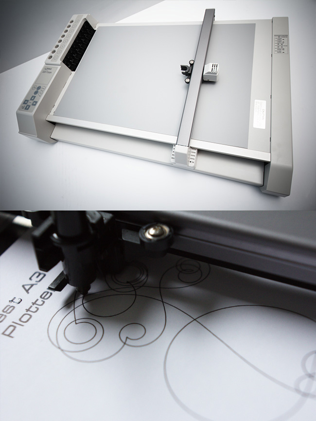Roland DG plotter in action