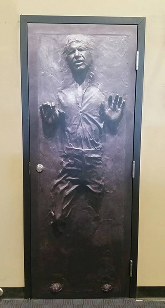 star wars vinyl warp for door