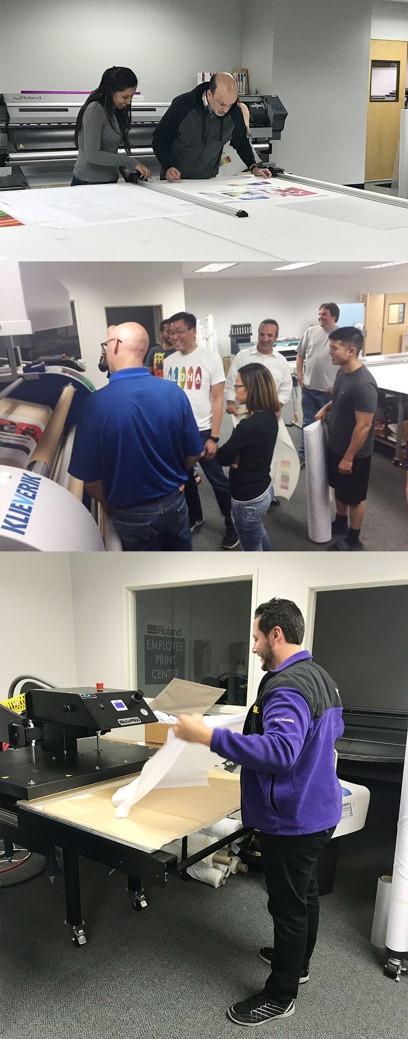 Dye sublimation workshop training
