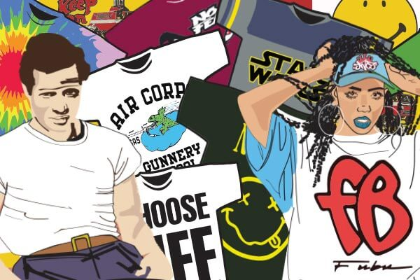 t shirt history infographic