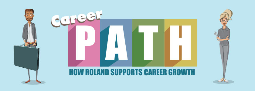 Roland career path infographic