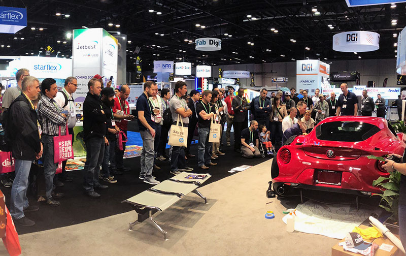 Car wrap demonstrations by Digital EFX and Roland DGA