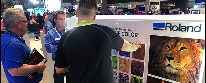 Uv printed textures VersaUV exhibit