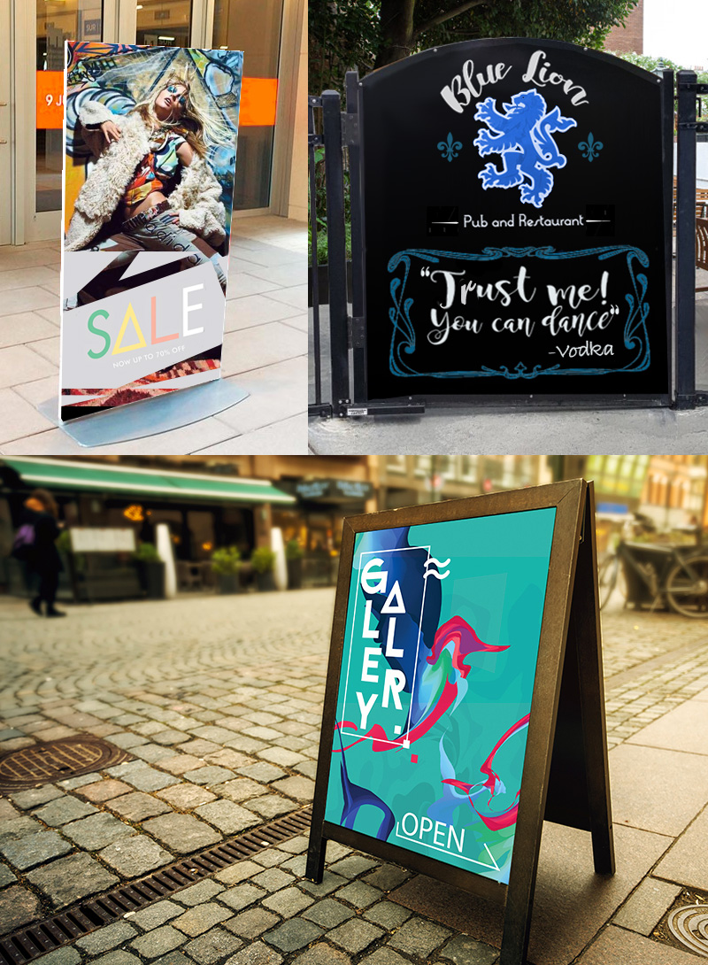 outdoor boards and signs