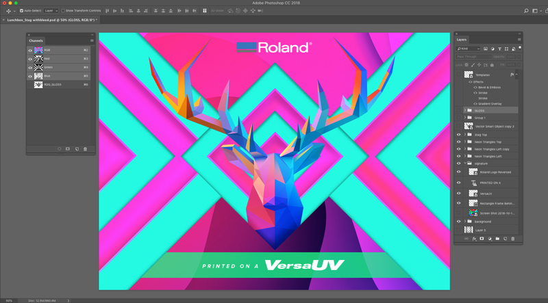 UV print design in Photoshop