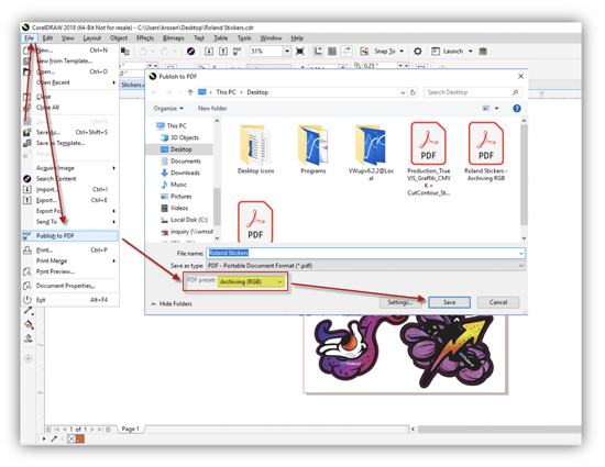 Corel Draw and VersaWorks 6