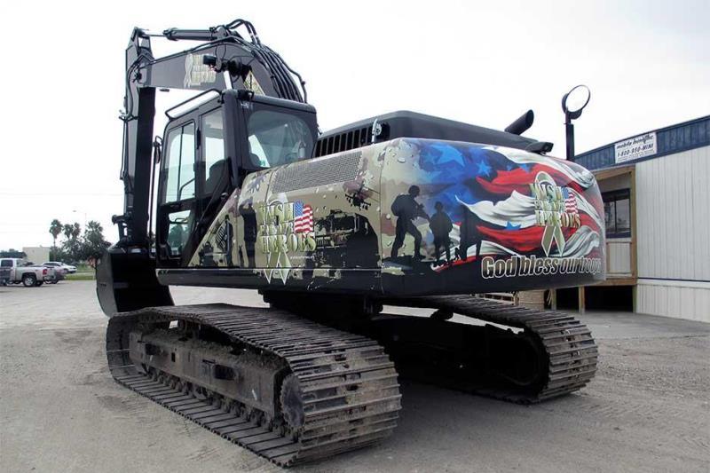 excavator vehicle wrap