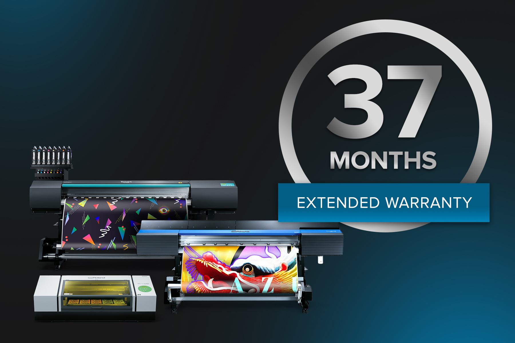 Roland DGA has announced the launch of its new 37-Month Warranty Promo.