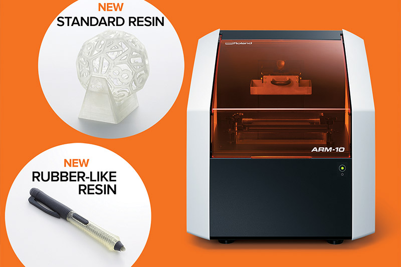New Resin for Roland ARM-10 3D Printer