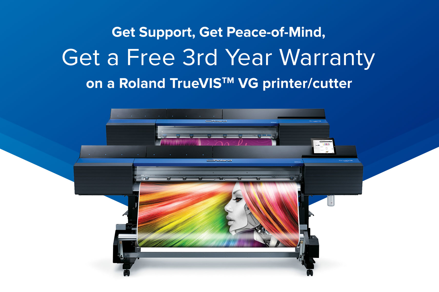 Roland TrueVIS VG Series Free Third-Year Warranty Promo