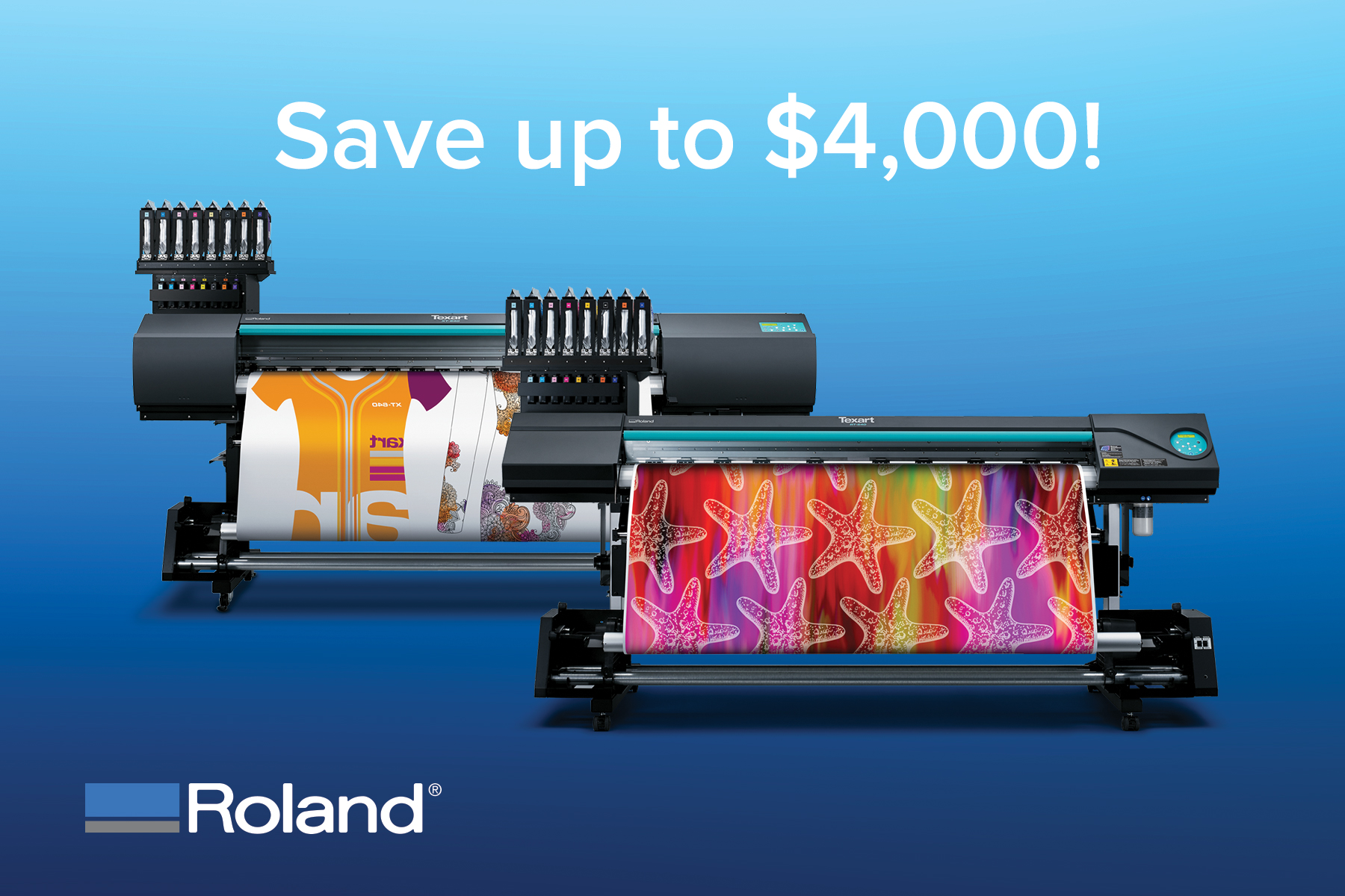 Roland DGA Texart Dye-Sublimation Printer Promotion