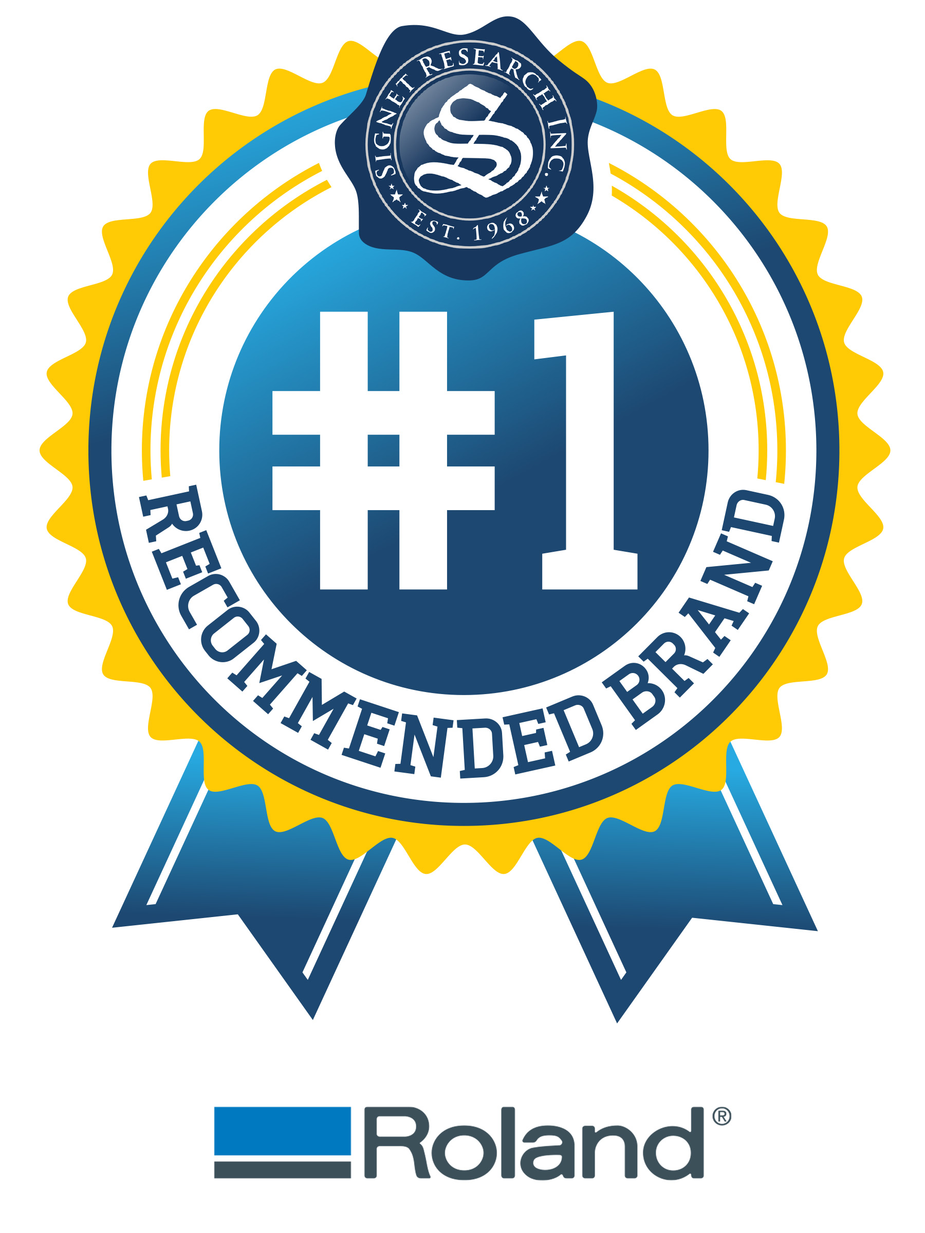 Roland named the most recommended digital printer brand according roland named number one digital printer brand in recent signet brandstudy buycottarizona Images