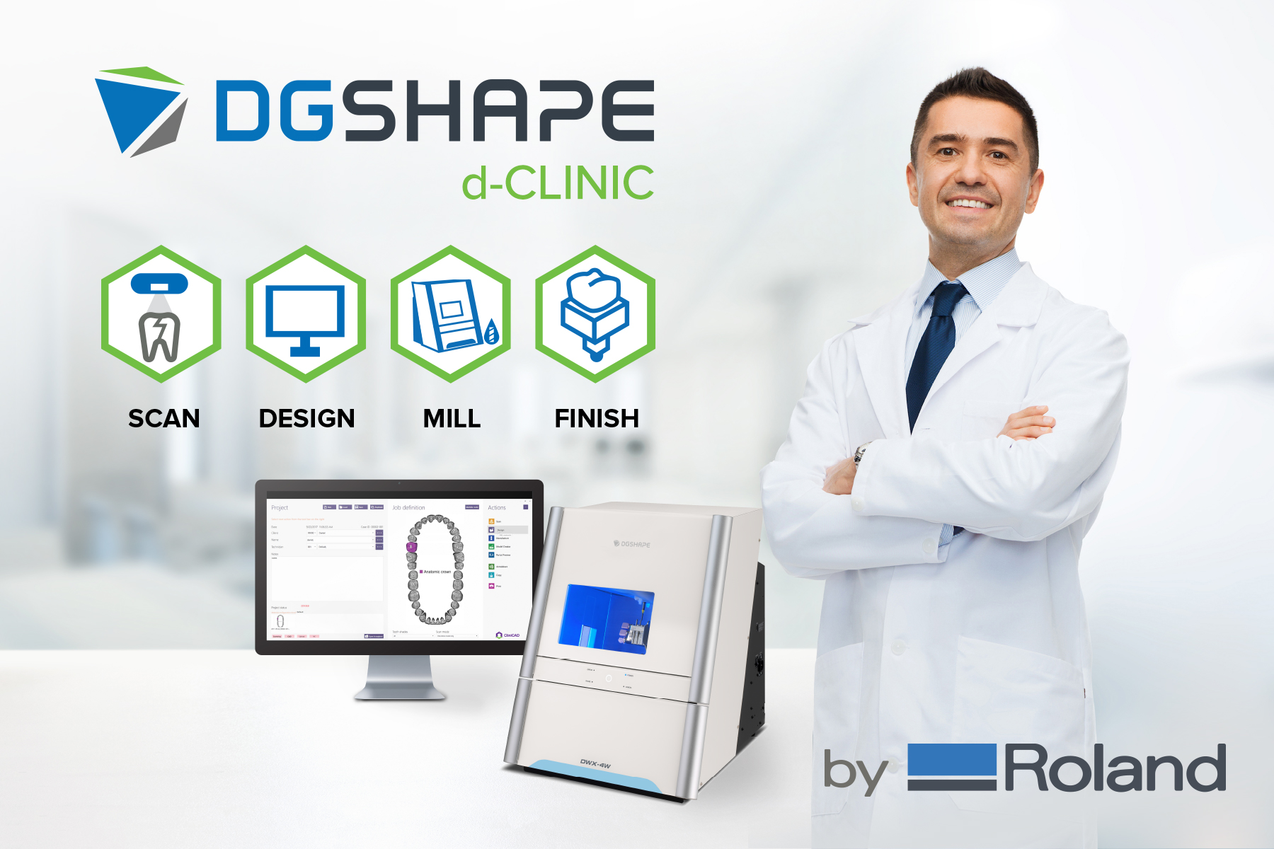 Roland DGA has introduced d-CLINIC -- a new open architecture in-clinic CAD/CAM solution for dentists.