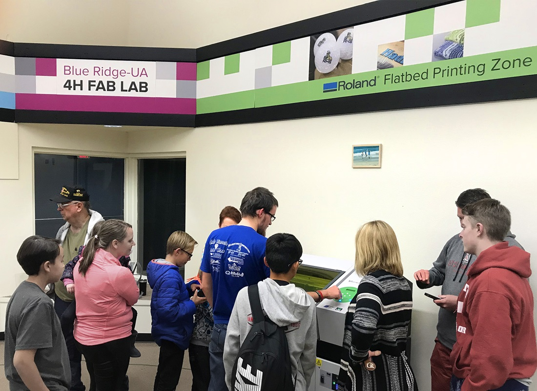 Roland at Blue Ridge 4H Fab Lab Grand Opening