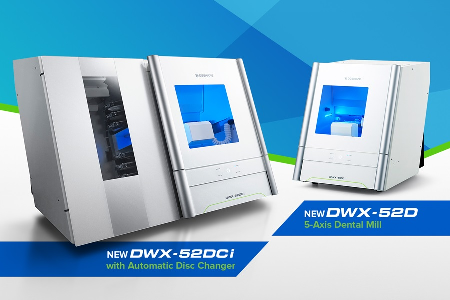 Roland's newly launched DWX-52DCi and DWX-52 dental milling machines