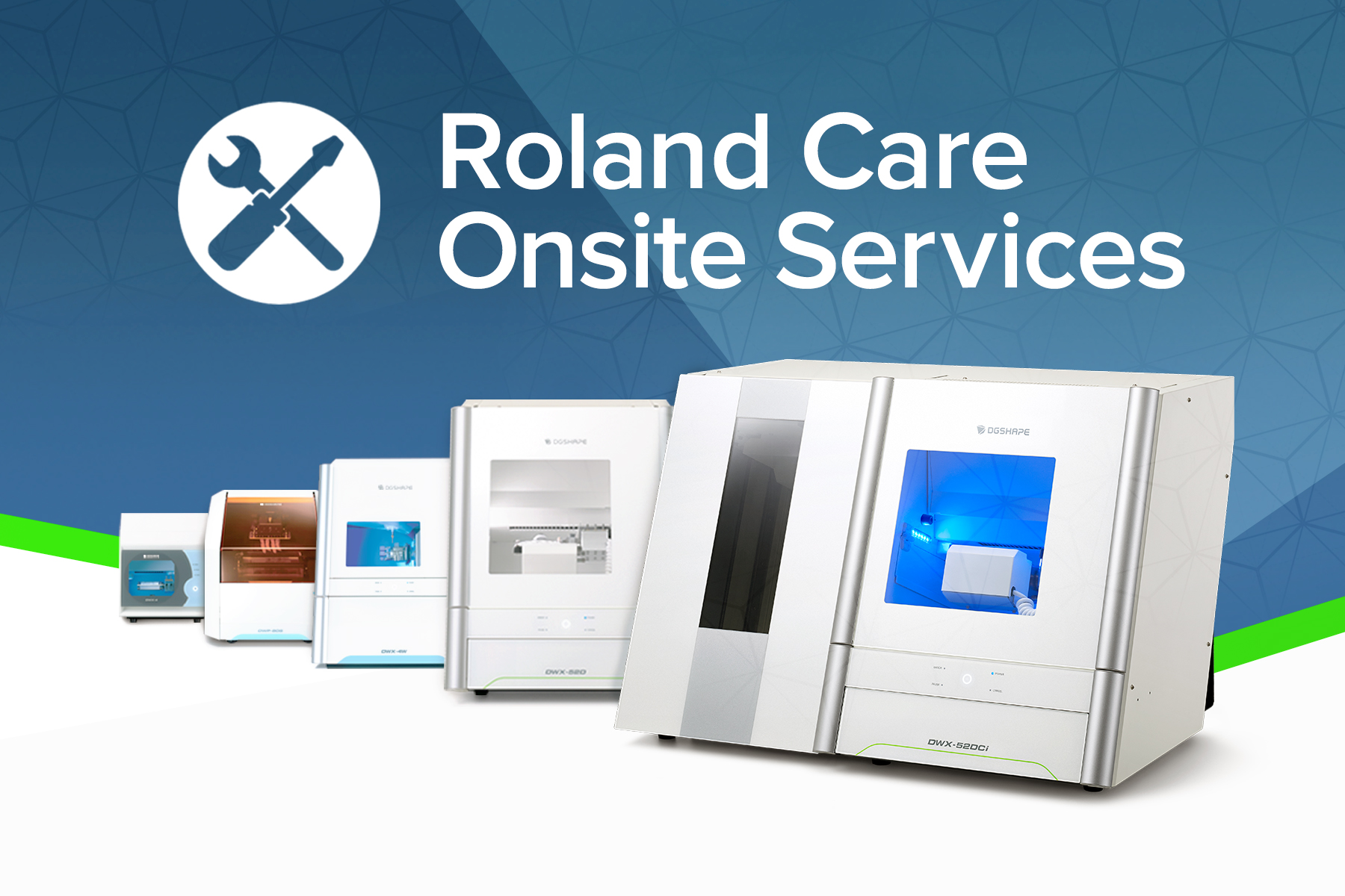 Roland DGA launches Roland Care Onsite Services for owners of Roland dental devices.