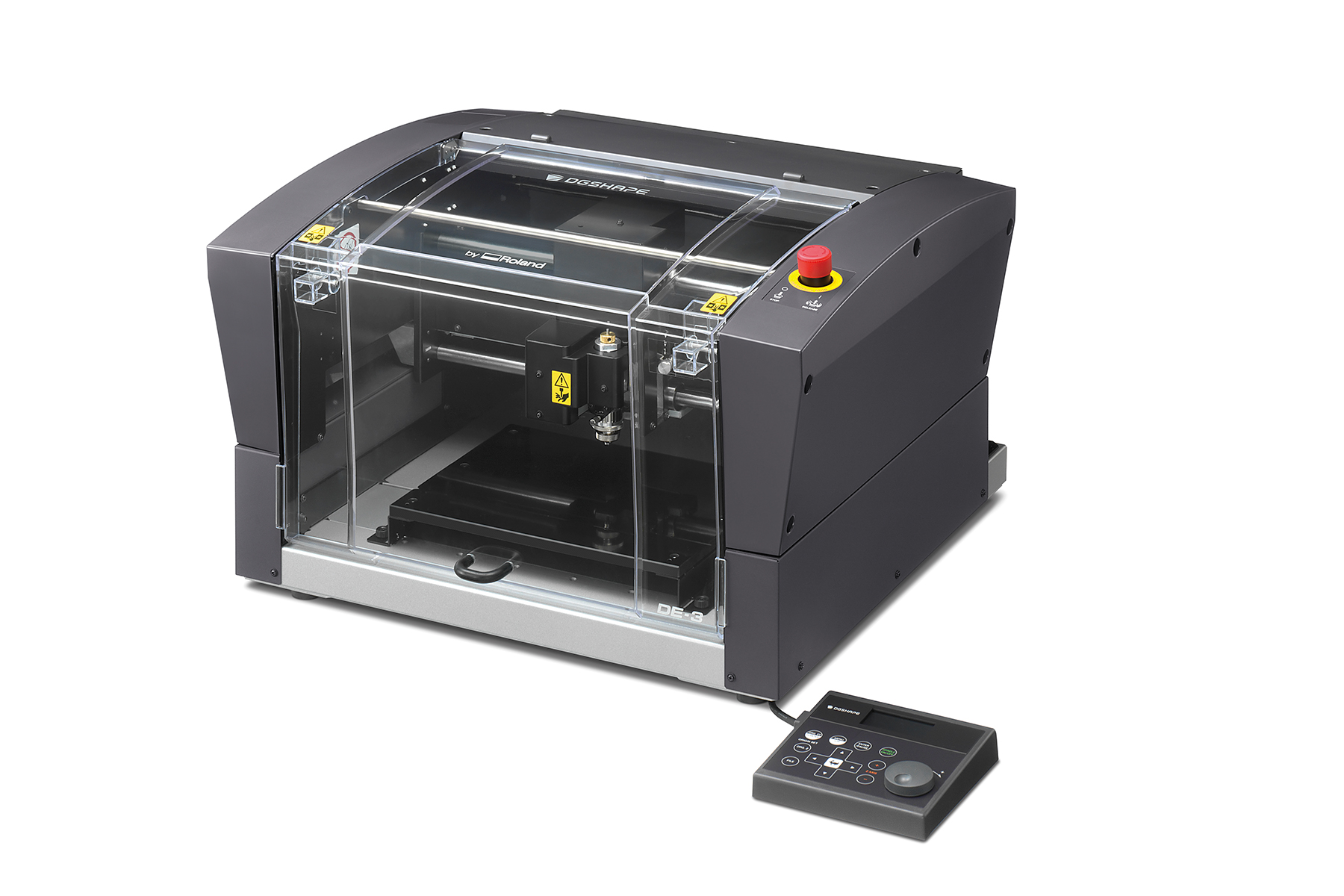 Photo of the new DGSHAPE DE-3 rotary engraver from Roland DGA.