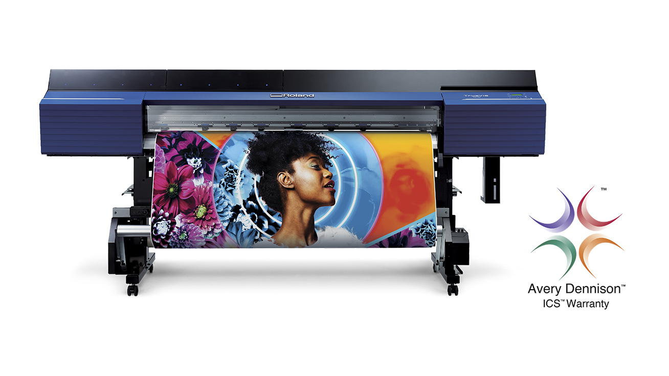 Roland DGA's New TrueVIS TR2 Eco-Solvent ink technology has received Avery Dennison's ICS Performance Guarantee.