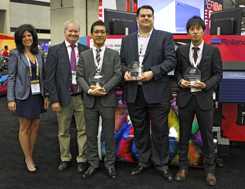 "Roland DG receives three 2020 Buyers Lab ""Pick Awards"" for its newest TrueVIS series printer/cutters at PRINTING United 2019 in Dallas."