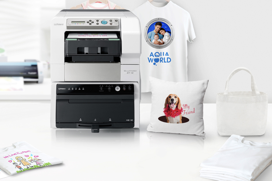 The new VersaSTUDIO BT-12 direct-to-garment printer from Roland DGA