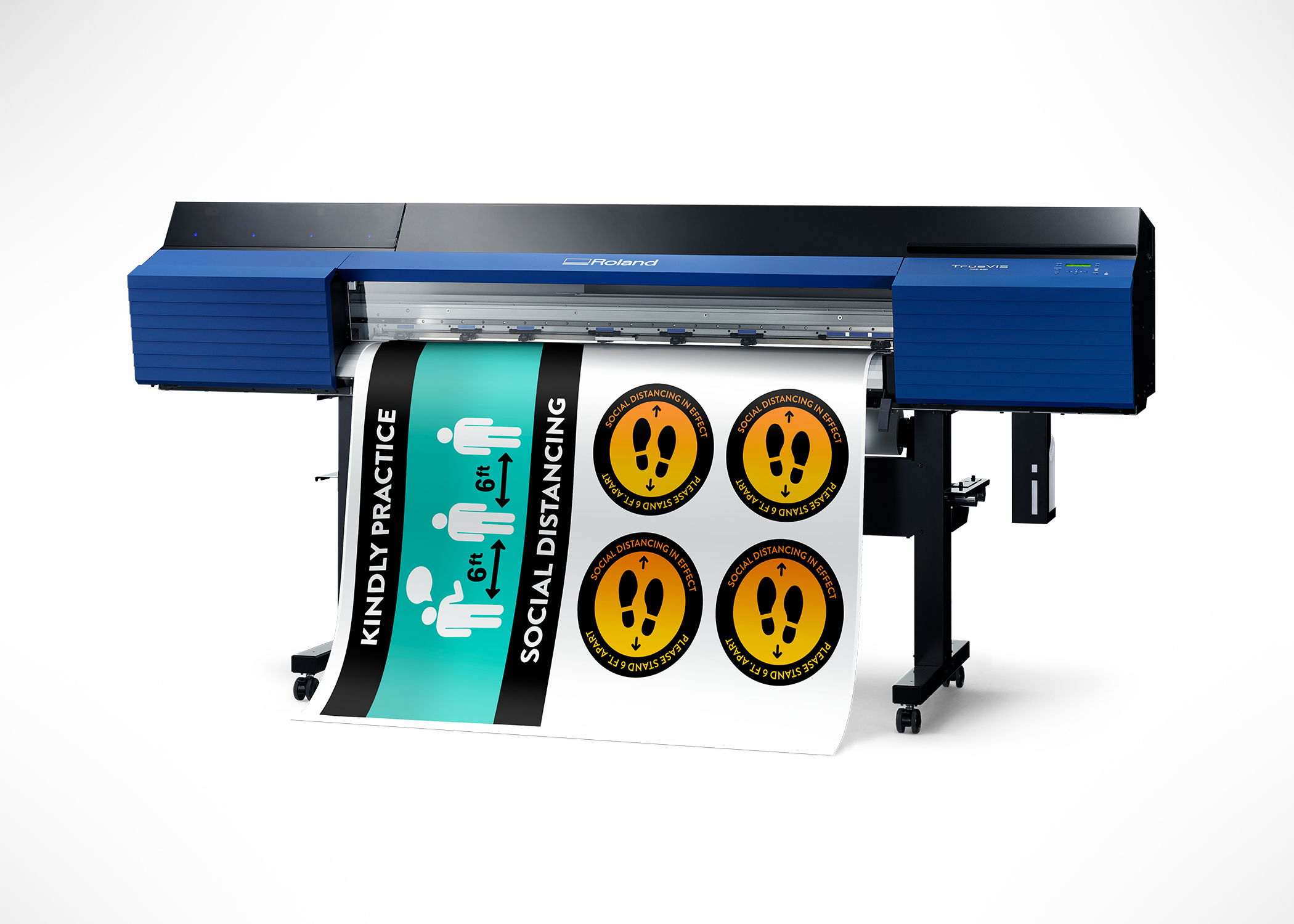 Roland DGA Introduces New Social Distancing Signage Solutions.