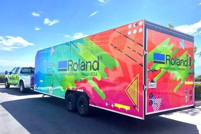 The Roland DGA Demo Days Roadshow truck made its first stop recently in Damascus, Oregon.
