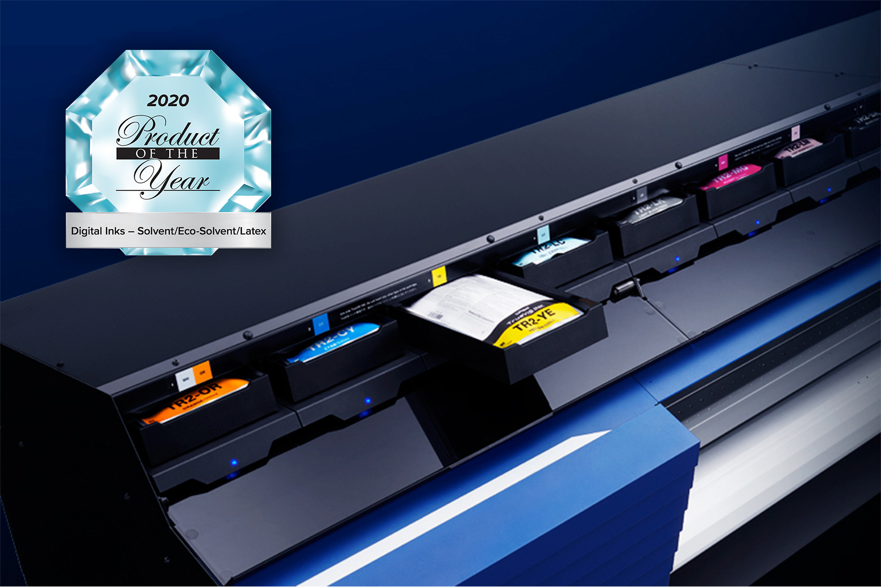 Roland DG's TR2 Ink has won a PRINTING United Alliance 2020 Product of the Year Award.