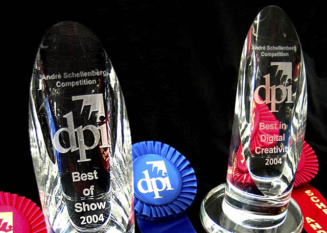 2004 Continuing a tradition of excellence, Roland SOLJET EX inkjets win a pair of DPI Product of the Year awards.