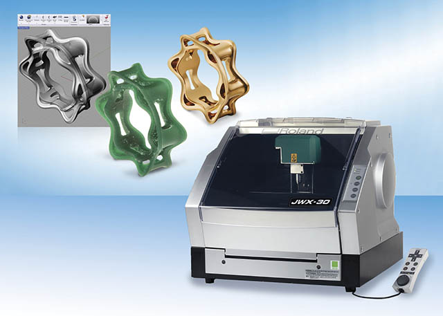 2008 Jewelry model making gets an upgrade with the new Roland JWX-30 milling machine.