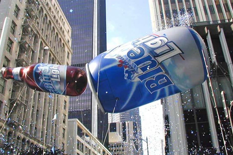 Above and Beyond Roland AJ-1000 Labatt Blue Light giant balloons