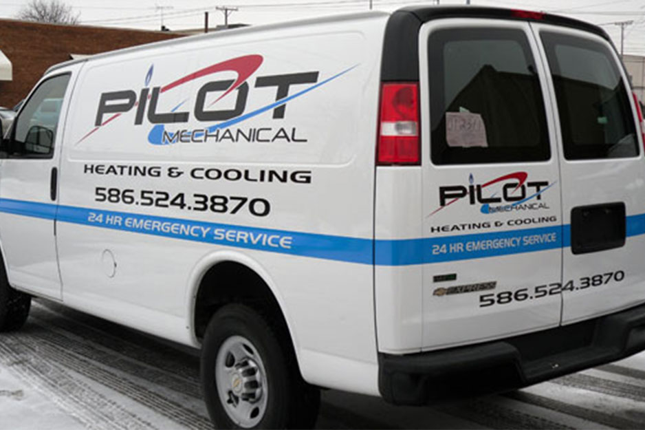 City Graphics VersaCAMM VS vehicle signage for Pilot Mechanical