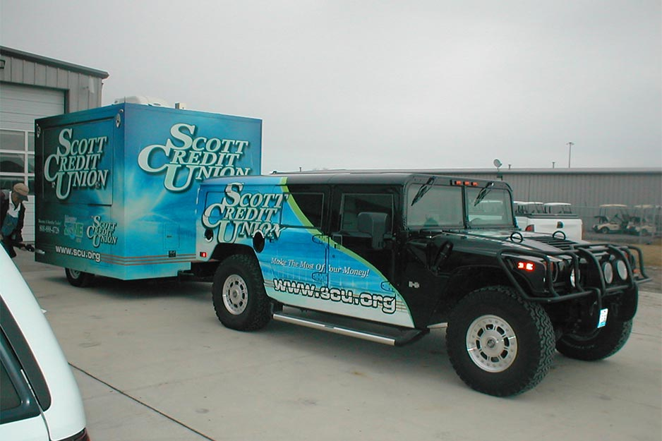 DigitalArtz H1 Hummer and mobile ATM vehicle wrap