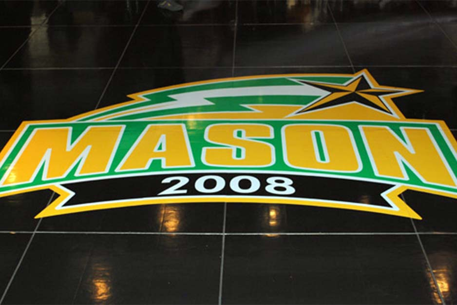 Dynamic Display Mason floor decal
