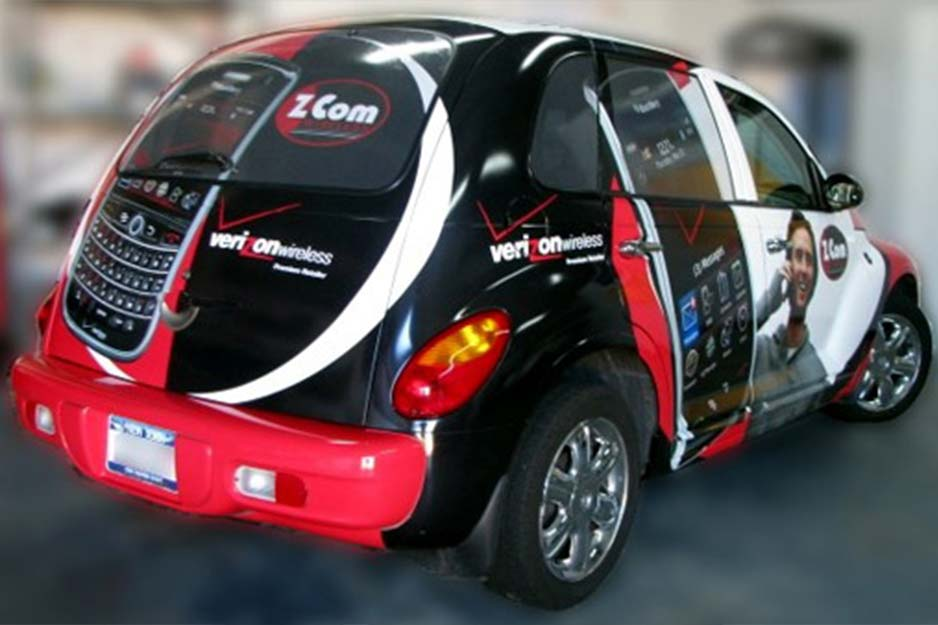 Dynamic Display Verizon vehicle wrap