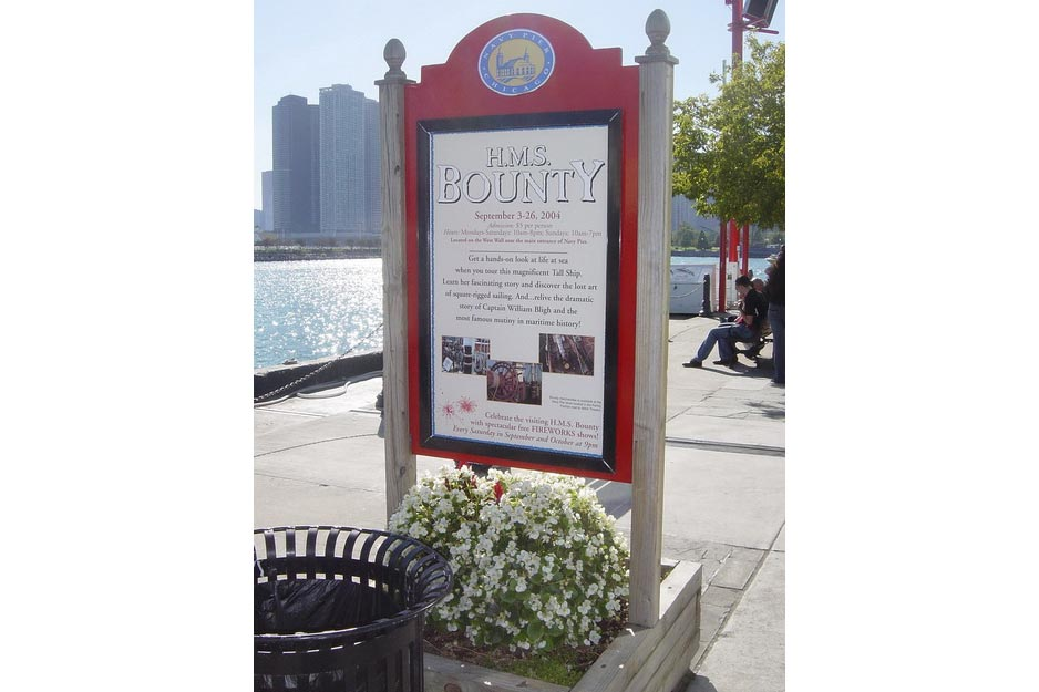 Navy Pier sign shop