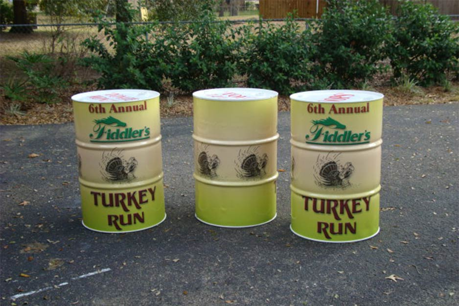 Ocala Auto Graphics VersaCAMM SP barrel wrap for 6th Annual Fiddler's Turkey Run