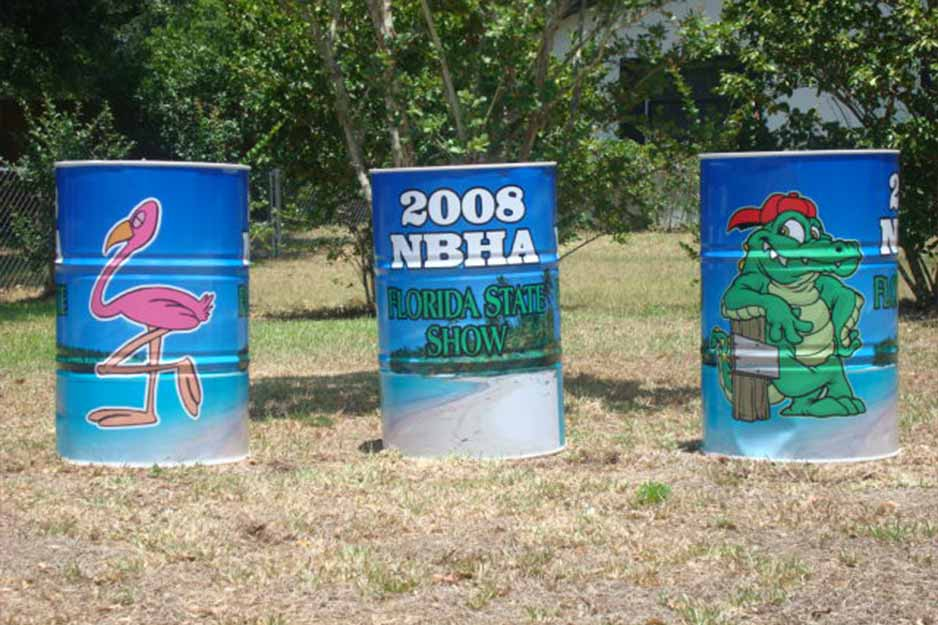 Ocala Auto Graphics VersaCAMM SP barrel wrap for 2008 NBHA Florida State Show
