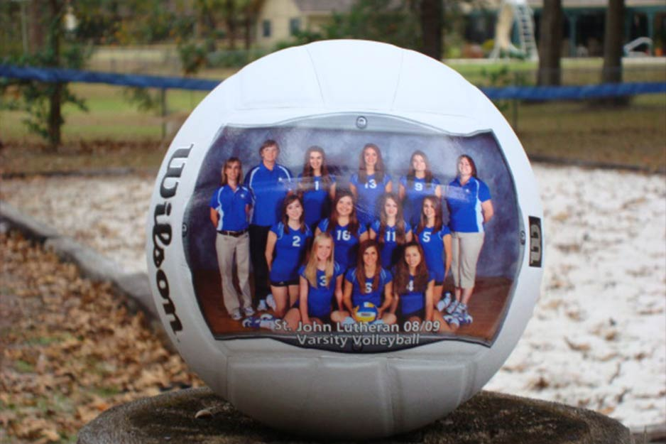 Ocala Auto Graphics VersaCAMM SP custom volleyball decal