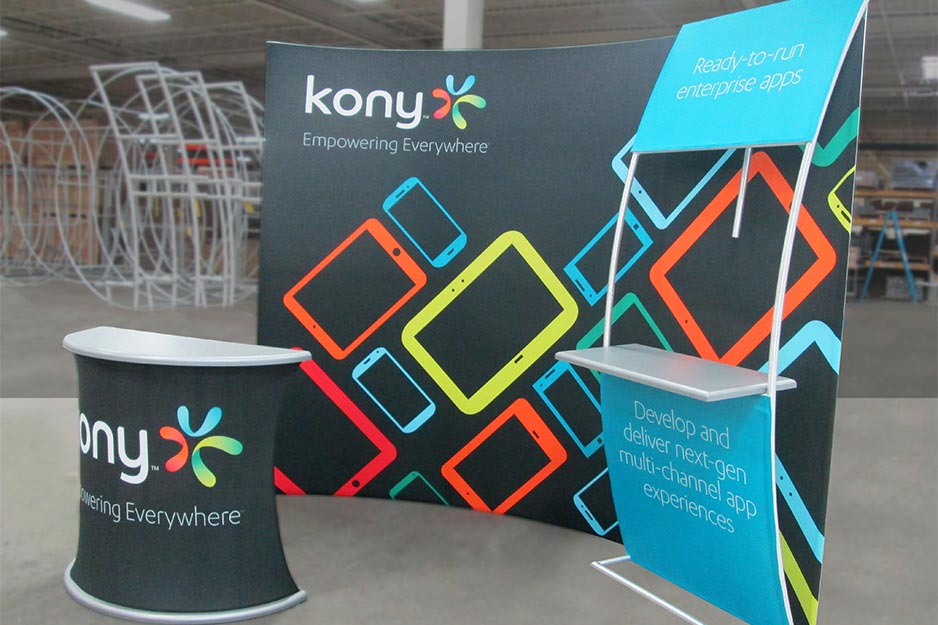 Orbus Exhibit & Display Group Kony tension fabric