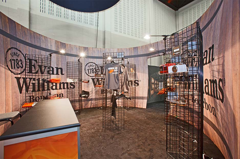 Orbus Exhibit & Display Group Evan Williams fabric barrel interior