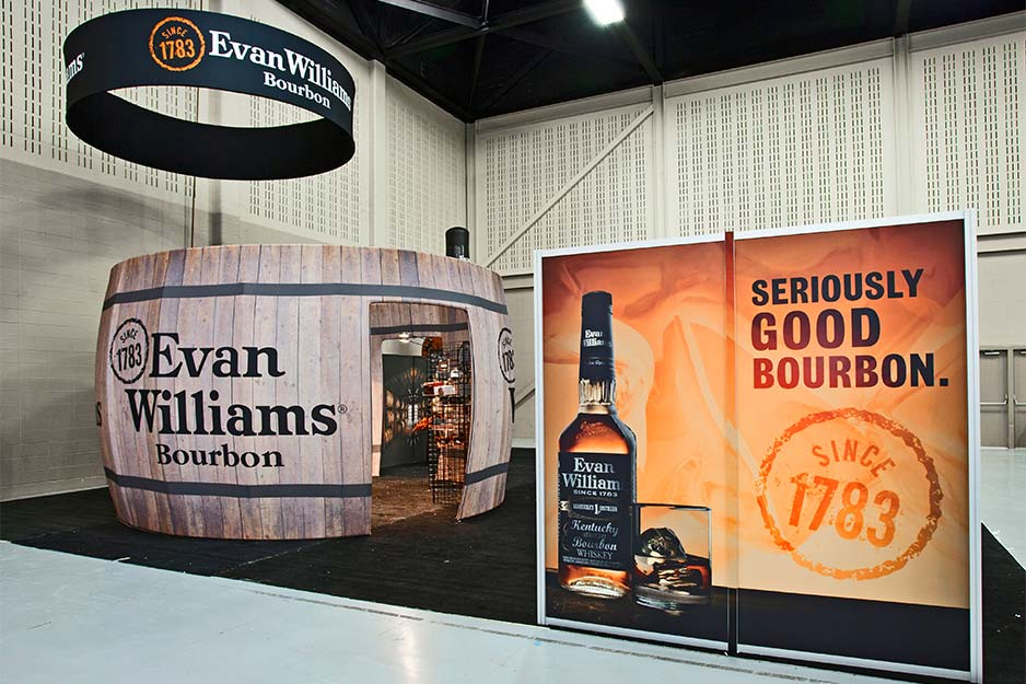 Orbus Exhibit & Display Group Evan Williams fabric barrel