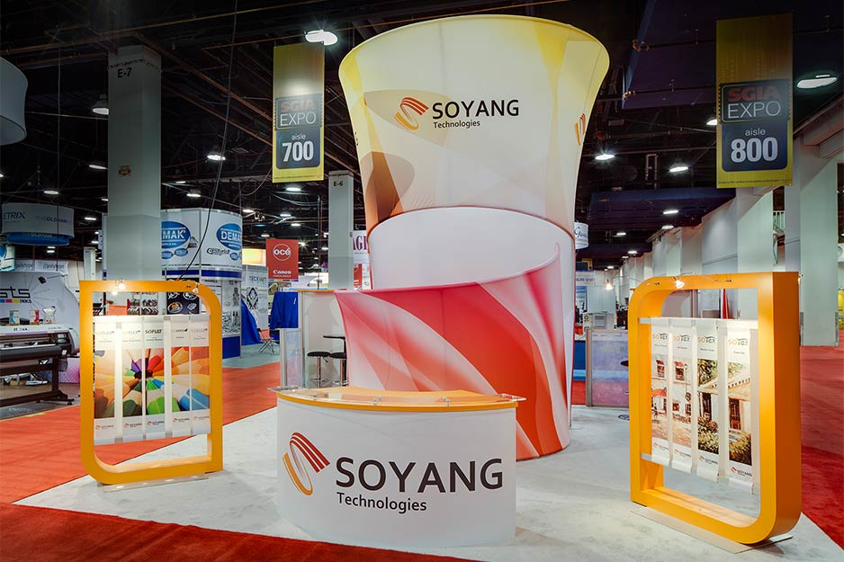 Orbus Exhibit & Display Group Soyang custom fabric structure
