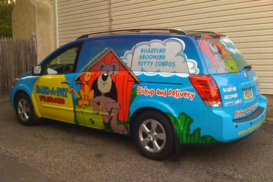 Sunrise Signs VersaCAMM vehicle wrap for Park-A-Pet