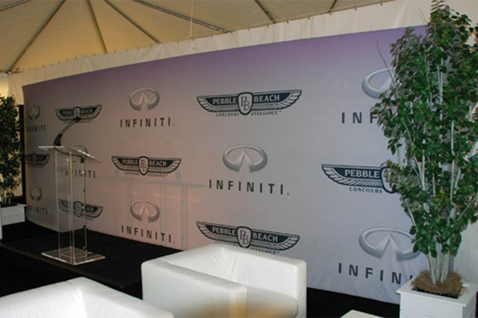Trucksis Flag & Banner Infiniti backdrop